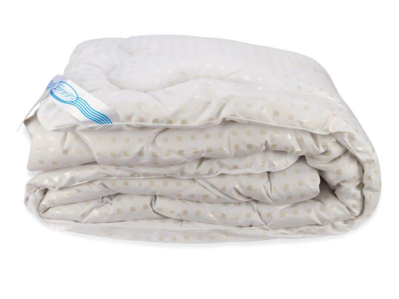Одеяло Лебяжий Пух Leleka-Textile Двуспальный 172х205 см Белое в квадратик (1005579)
