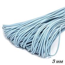 Шнурок-резинка круглый Luxyart диаметр 3 мм 500 метров Голубой (R3-507)