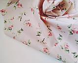Ткань хлопок винтажные розовые цветочки, фото 2