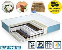 Матрас Sapphire/Сапфир 22см 180*200 PhytoLife Кокос+лен+хлопок (без поролона!), фото 1