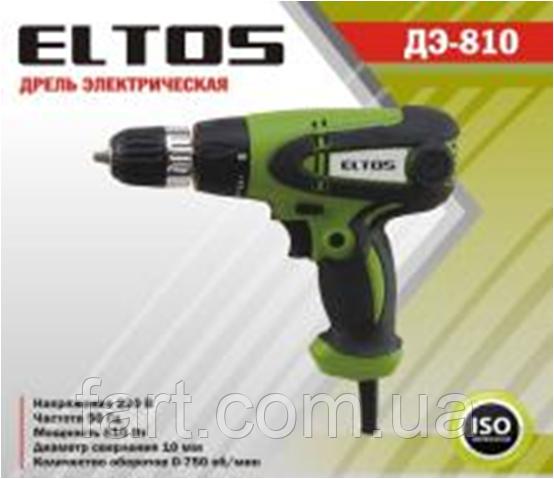 Дрель-шуруповерт сетевой Eltos ДЭ-810