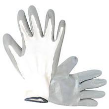 """Перчатка вязаная покрытая нитрилом на ладони 10"""" (серая) INTERTOOL SP-0112"""