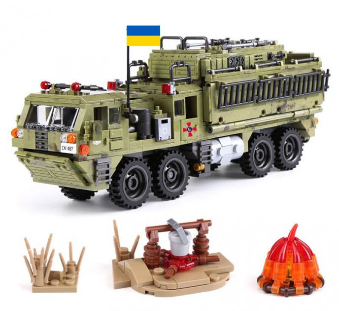 Конструктор 06014 Тяжёлый тактический военный пехотный грузовик 1377 деталей