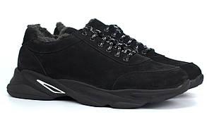 Кросівки шкіряні на хутрі теплі м'які нубук чоловіче взуття великих розмірів Rosso Avangard Winter Ada NUB BS