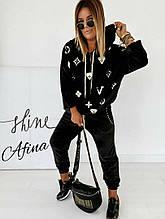 Спортивний костюм жіночий плюш на трикотажній основі 2-х нитка.(Туреччина). Розміри:42-44, 44-46