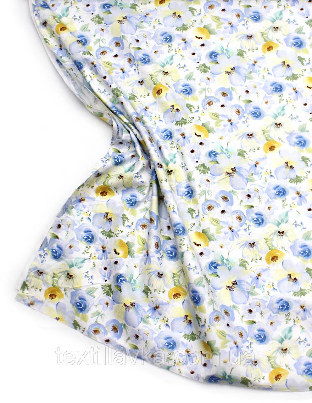 Ткань хлопок крупные цветы
