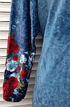 Халат велюровый Джинс с кокеткой 56 размер, фото 3