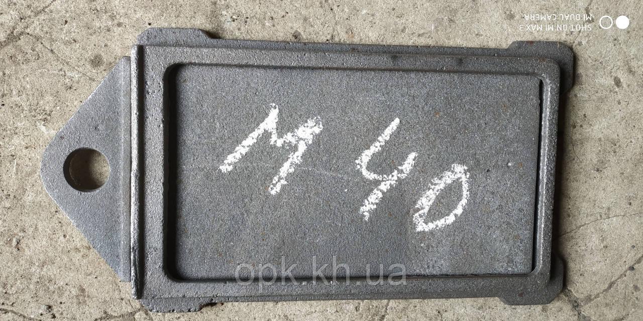 "Заслонка-шибер дымохода ""М40"" чугунная  125""230 мм (вес - 5 кг)"