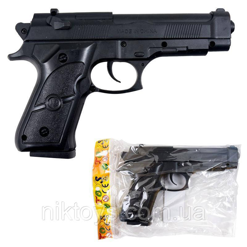 Пістолет 468-2 (144шт) на пульках, 18см, в кульку