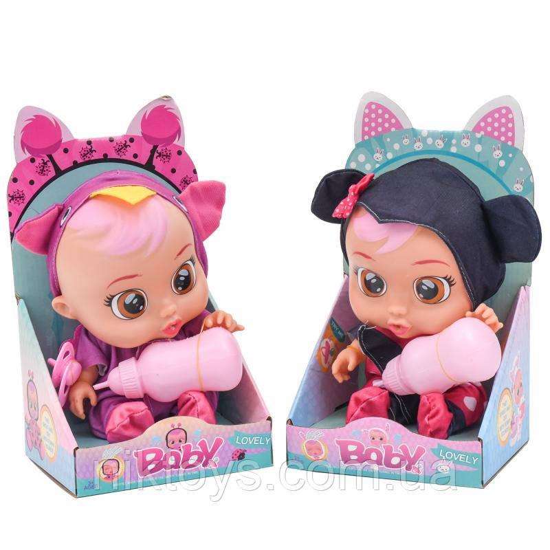 Лялька 3360-51-52-53-54-55 (36шт) CRB,25см,бутылочк
