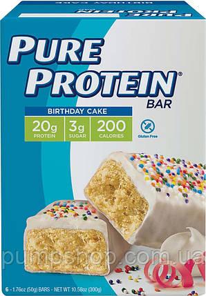 Протеиновые батончики Pure Protein Birthday Cake Bar 50 г, фото 2