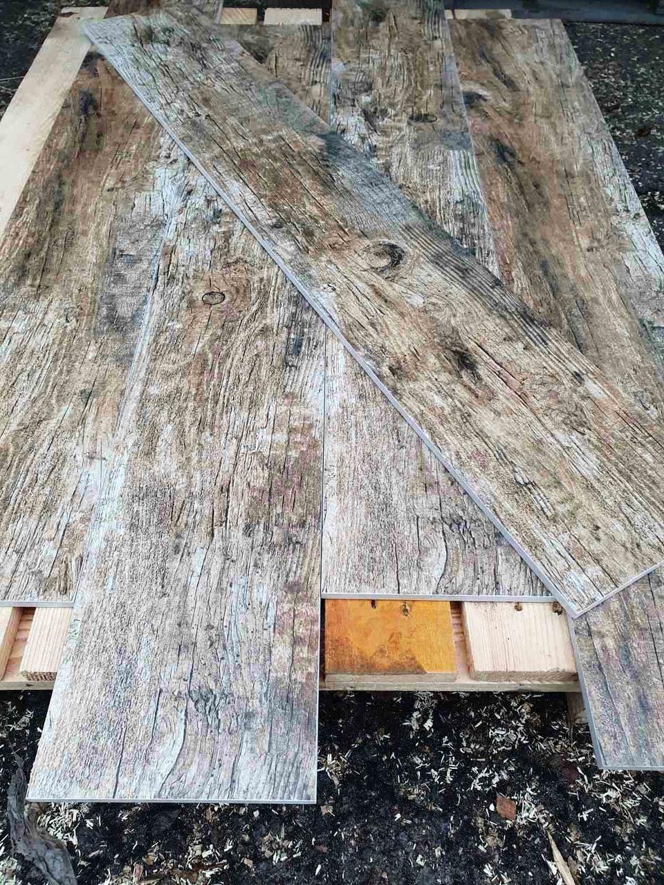 Бесшовная Плитка для Пола под Дерево Корой Redwood 1200х195мм Керамогранит под ламинат Большой Размер