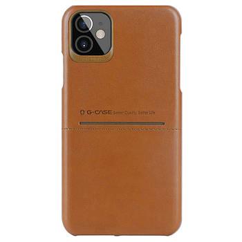 """Кожаная накладка G-Case Cardcool Series для Apple iPhone 12 mini (5.4"""")"""