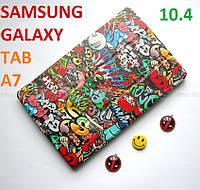 Молодежный чехол для Samsung Galaxy Tab A7 10.4 2020 (T500 T505) Ivanaks Tri Fold Graffity (разноцветный)
