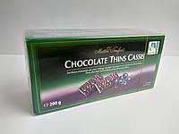 Шоколадные конфеты Maitre Truffout Chocolate Thins Cassis с начинкой со вкусом черной смородины 200 г, фото 1