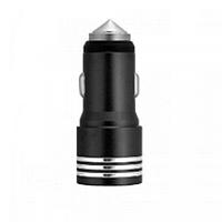 Автомобильная зарядка АЗУ 2 USB Металл YZS-01 Black