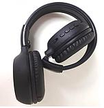 Наушники беспроводные Bluetooth HLV N65BT Black наушники с микрофоном, фото 3