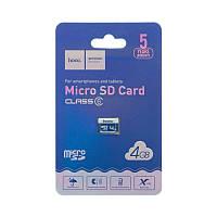 Карта Памяти Hoco MicroSD 4gb 6 Class (Синий)