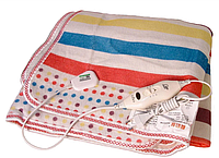 Электропростынь с сумкой electric blanket 150*170 в цветную полоску