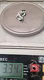 Серьги СЦ212МДз, серебро 925 проба, кубический цирконий, фото 7