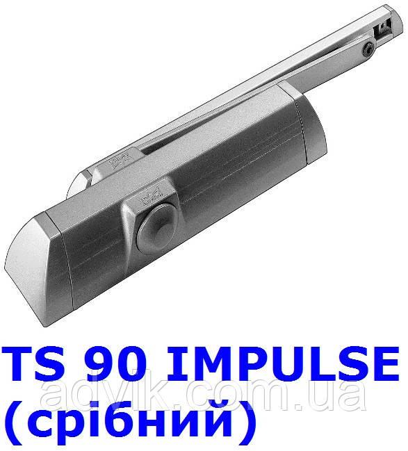 Доводчик Dorma TS 90 Impulse з ковзною тягою (срібний)
