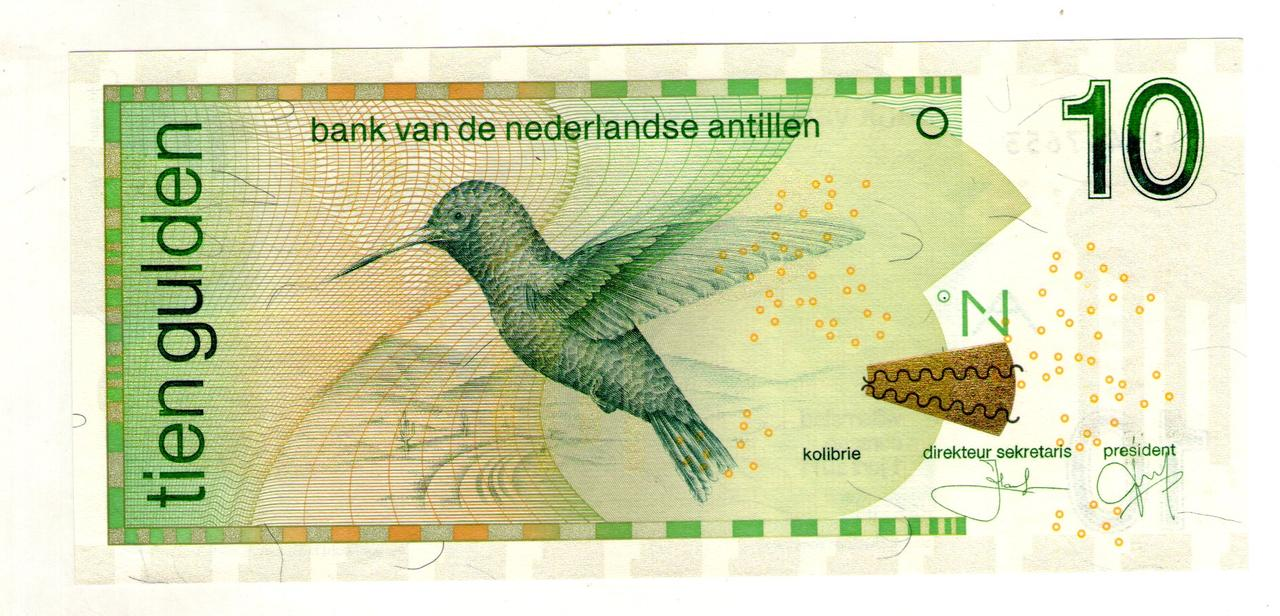 Нидерландские Антилы 10 Gulden 2011 год UNC
