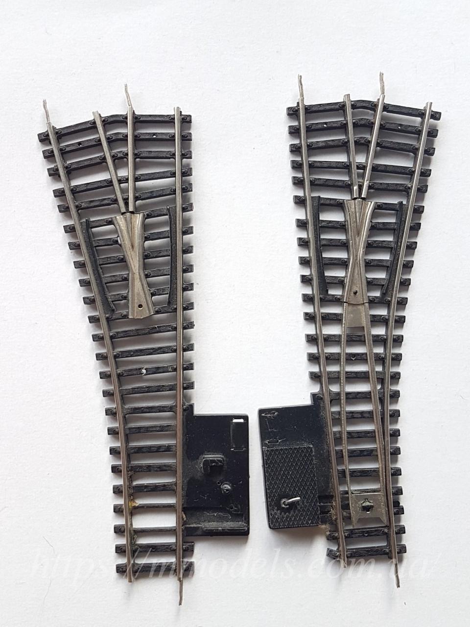 PIKO GDR П- образные рельсы  стрелочный перевод правый,левый под ремонт или восстановление, масштаба H0, 1:87