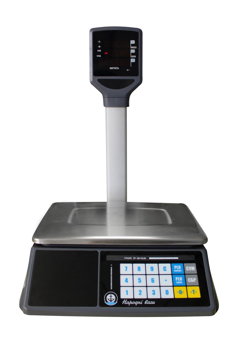 Весы Вагар торговые сенсорные VP (6/15 LED)