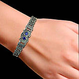 Серебряный женский браслет с совой 17,5 см, фото 2