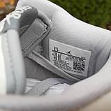 Мужские кроссовки в стиле Jordan 1 Retro High Dior белые с серым, фото 6