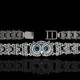 Серебряный женский браслет с совой 17,5 см, фото 3