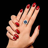 Серебряное кольцо с большим камнем, фото 3