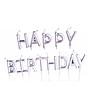 "Свечи для торта серебряные ""Happy Birthday"", фото 3"
