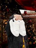 Женские кроссовки Alexander McQueen в стиле александр маккуин белые НА МЕХУ (Реплика ААА+), фото 2