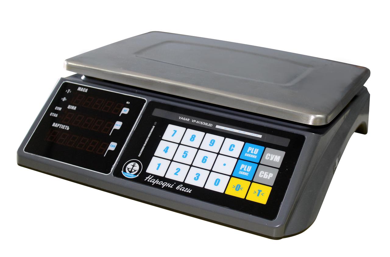Весы Вагар торговые сенсорные VP-N (6/15 LED)