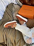 Кросівки жіночі Louis Vuitton Escale в стилі луї вітон НА ХУТРІ (Репліка ААА+), фото 7