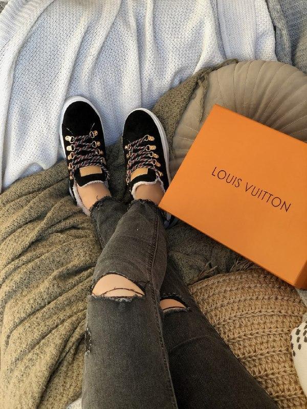 Кросівки жіночі Louis Vuitton Escale в стилі луї вітон НА ХУТРІ (Репліка ААА+)
