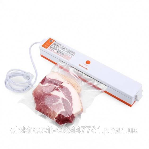 Вакууматор Freshpack Pro вакуумный упаковщик еды, бытовой. Цвет: оранжевый