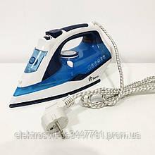 Электрический паровой утюг с керамической подошвой Domotec MS 2202 ручной керамический пароутюг. Цвет: синий