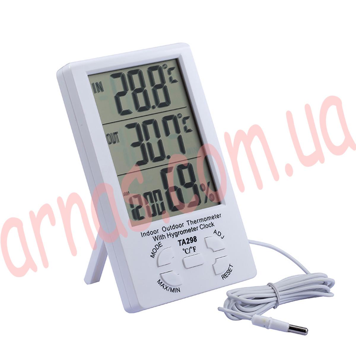 Термометр-гигрометр TA298 цифровой c выносным датчиком