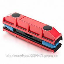 Щетка магнитная для мытья стекол с двух сторон Glider Красная