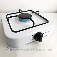 Газовая плита DOMOTEC MS-6601 на 1 конфорку. Цвет: белый