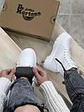 Женские ботинки Dr Martens Jadon в стиле Доктор Мартинс БЕЛЫЕ (Реплика ААА+), фото 3