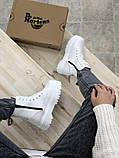 Женские ботинки Dr Martens Jadon в стиле Доктор Мартинс БЕЛЫЕ (Реплика ААА+), фото 5