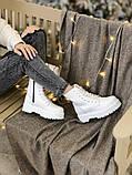 Женские ботинки Dr Martens Jadon в стиле Доктор Мартинс БЕЛЫЕ (Реплика ААА+), фото 4