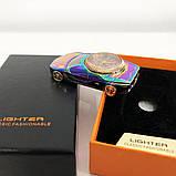 Спиральная зажигалка, электрозажигалка аккумуляторная USB-813 + часы, фото 3
