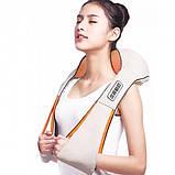 Роликовый массажер для спины и шеи massager of neck kneading, фото 9