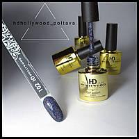 Гель лак 102 ХИТ Серый Шиммер Звёздное Небо Плотный Гель-лаки HD Hollywood