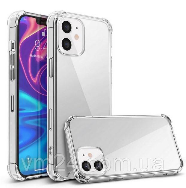 Чехол Силикон WS SHOCKPROOF iPhone 12mini прозрачный с (усиленный углами) Ultra Air