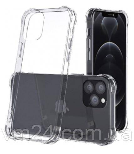 Чехол Силикон WS SHOCKPROOF iPhone 12pro max  прозрачный с (усиленный углами) Ultra Air